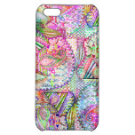 Abstract Girly Neon Rainbow Paisley Sketch Pattern iPhone 5C Cases
