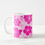 Abstract girly pink flowers mugs