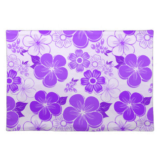 Abstract girly purple flowers place mats