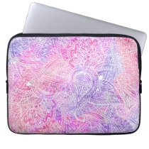 Abstract Girly Purple Pink Paisley Sketch Pattern Computer Sleeve