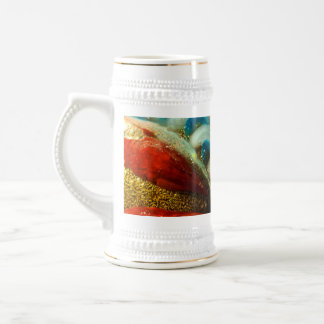 Abstract Glass Beer Stein
