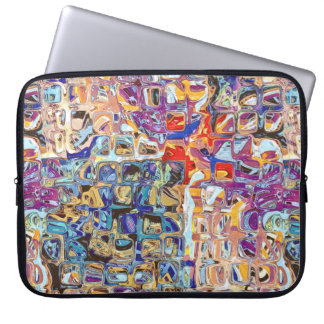 Abstract Glass Blocks Computer Sleeve
