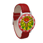 Abstract Glass Flower. Wrist Watches