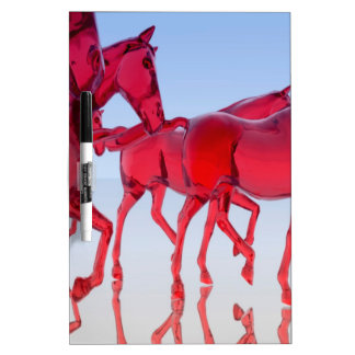 Abstract Glass Horses Dry Erase Boards