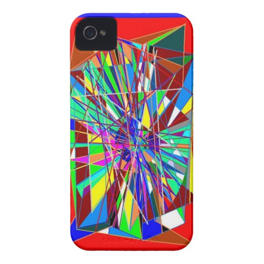 Abstract Glass iPhone 4 Case-Mate Case
