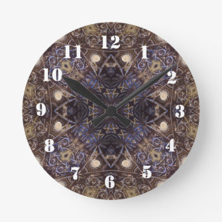 Abstract glass plate pattern round clock