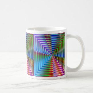 Abstract Glass Squares Coffee Mug