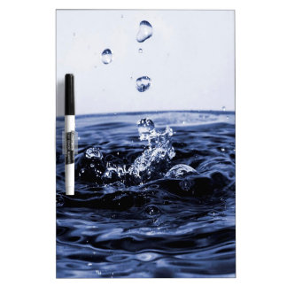 Abstract Glass Water Dry-Erase Board