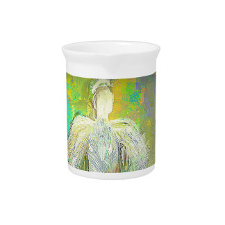 Abstract Glitter Angel Pitcher