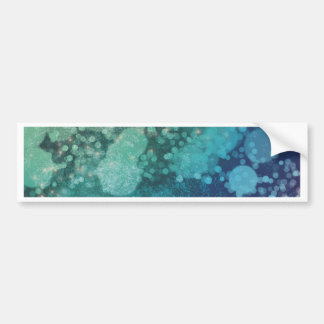 Abstract Glitter Blue Green Sparkles Bumper Sticker