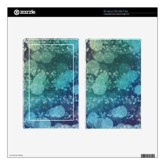 Abstract Glitter Blue Green Sparkles Decal For Kindle Fire