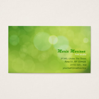 Abstract glitter business card