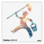 Abstract Glitter YellowRed Blue Sparkles Cleaner Wall Stickers