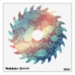 Abstract Glitter YellowRed Blue Sparkles Saw Room Sticker