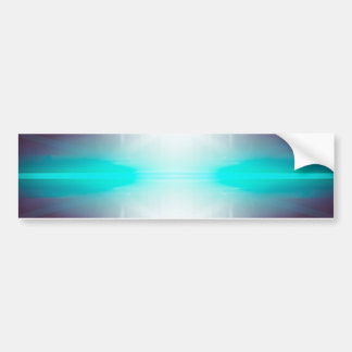 Abstract Glow Bumper Sticker