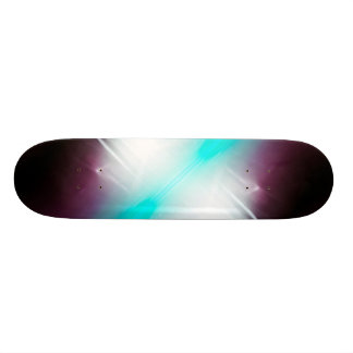 Abstract Glow Skateboard