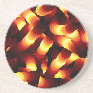 Abstract Glow Worm Art Sandstone Coaster