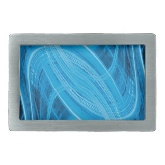 Abstract glowing blue lines rectangular belt buckles
