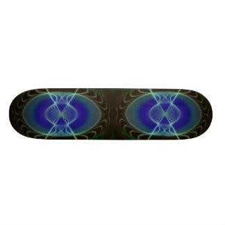 Abstract Glowing Circle design Skateboard