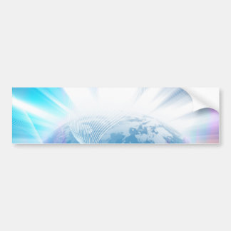 Abstract Glowing Earth Illustration Car Bumper Sticker