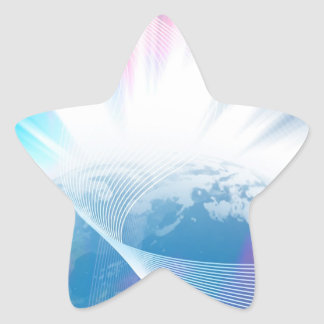 Abstract Glowing Earth Illustration Star Sticker