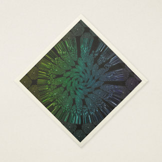 Abstract, glowing lines standard luncheon napkin