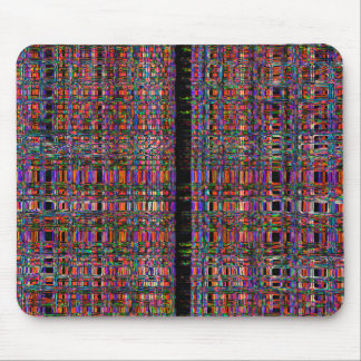 Abstract glowing neon lines pattern mouse pad