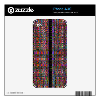 Abstract glowing neon lines pattern skin for iPhone 4