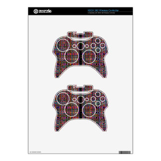 Abstract glowing neon lines pattern xbox 360 controller decal