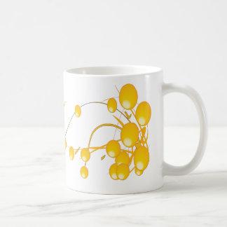Abstract Gold Balls E1 Classic White Coffee Mug