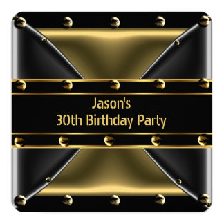 Abstract Gold Bronze Mens 30th Birthday Party 5BG Card