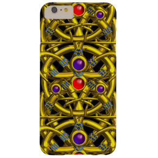 ABSTRACT GOLD CELTIC KNOTS WITH COLORFUL GEMSTONES BARELY THERE iPhone 6 PLUS CASE