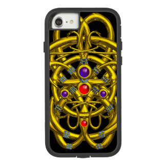 ABSTRACT GOLD CELTIC KNOTS WITH GEMSTONES Case-Mate TOUGH EXTREME iPhone 7 CASE