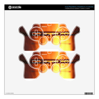 Abstract Gold Golden PS3 Controller Decal