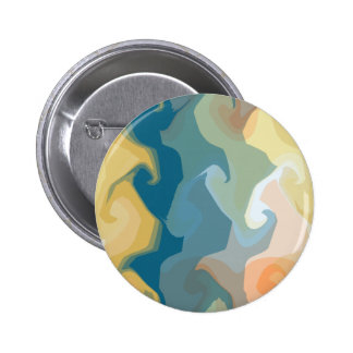 ABSTRACT GOLD GREEN BLUE BUTTON