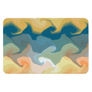 ABSTRACT GOLD GREEN BLUE MAGNET