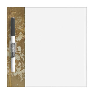 Abstract Gold Painting with Silver Speckles Dry-Erase Board