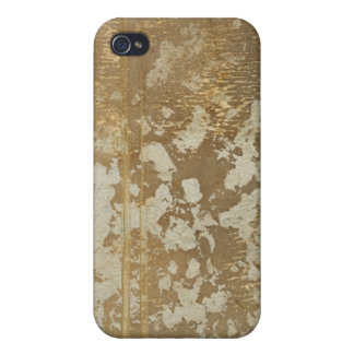 Abstract Gold Painting with Silver Speckles Cases For iPhone 4