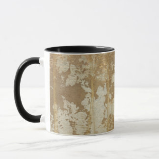 Abstract Gold Painting with Silver Speckles Mug