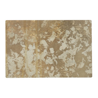 Abstract Gold Painting with Silver Speckles Laminated Placemat