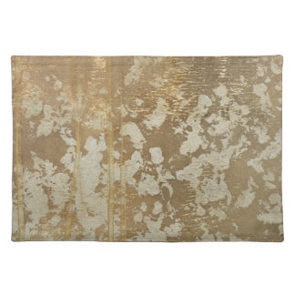 Abstract Gold Painting with Silver Speckles Cloth Place Mat