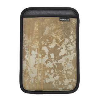 Abstract Gold Painting with Silver Speckles Sleeve For iPad Mini