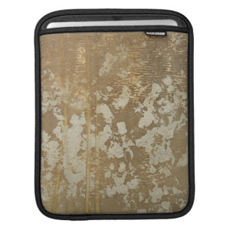 Abstract Gold Painting with Silver Speckles Sleeves For iPads