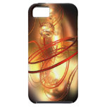 Abstract gold pearl with red ring iPhone SE/5/5s case