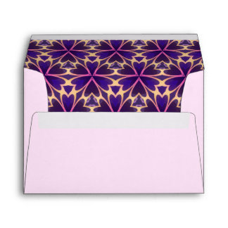 Abstract Gold Pink Flowers Envelope