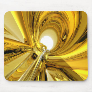 Abstract Gold Rings Mousepads