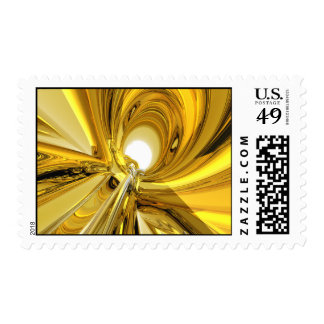 Abstract Gold Rings Postage