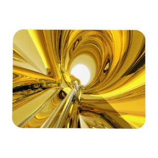 Abstract Gold Rings Rectangular Photo Magnet