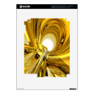 Abstract Gold Rings iPad 3 Skins