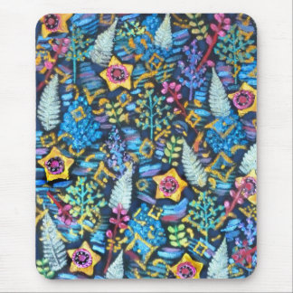 Abstract - Gold Stars Mouse Pad